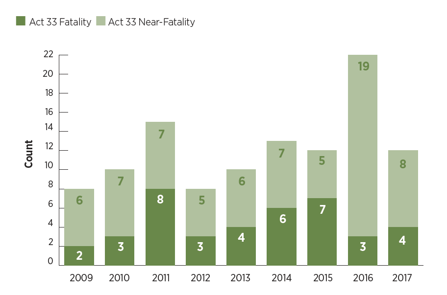 allegheny county child fatalities and near fatalities 2017